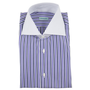 The White Collar Dress Shirt | Purple Stripe - duncanquinn