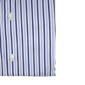 The White Collar Dress Shirt | Blue Stripe - duncanquinn