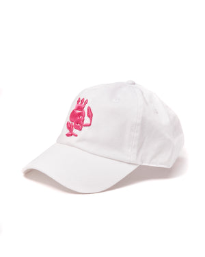 Smoking Skull Cap (White/Fuschia) - duncanquinn