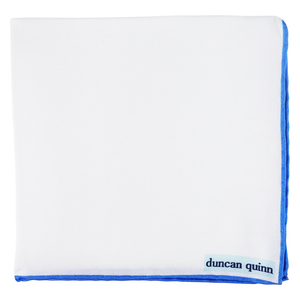 White Silk Pocket Squares - duncanquinn