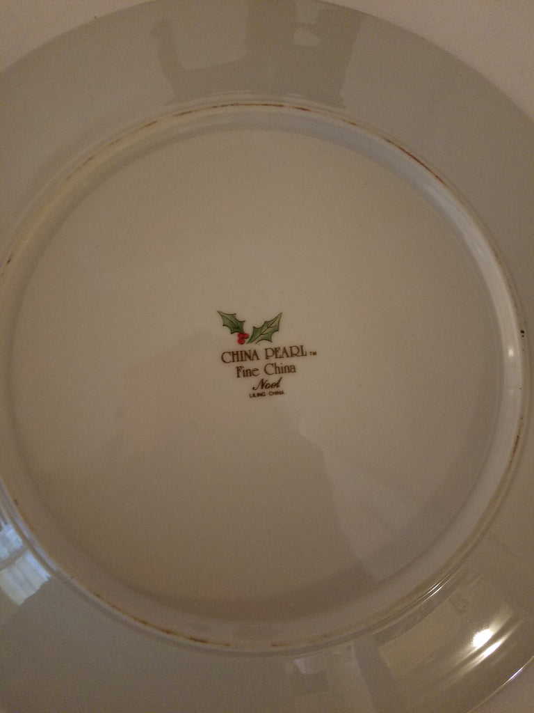 Christmas plate set for 4