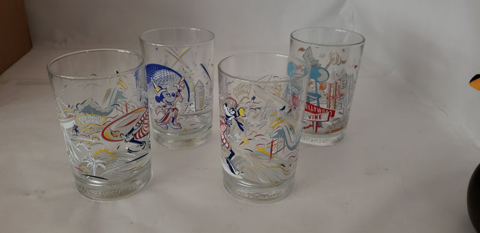 25th Anniversary set of 4 Disney cups