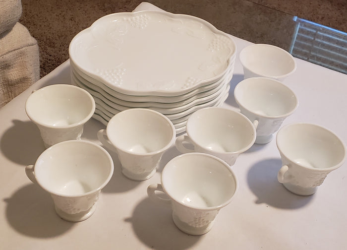 Milk Glass Tea set