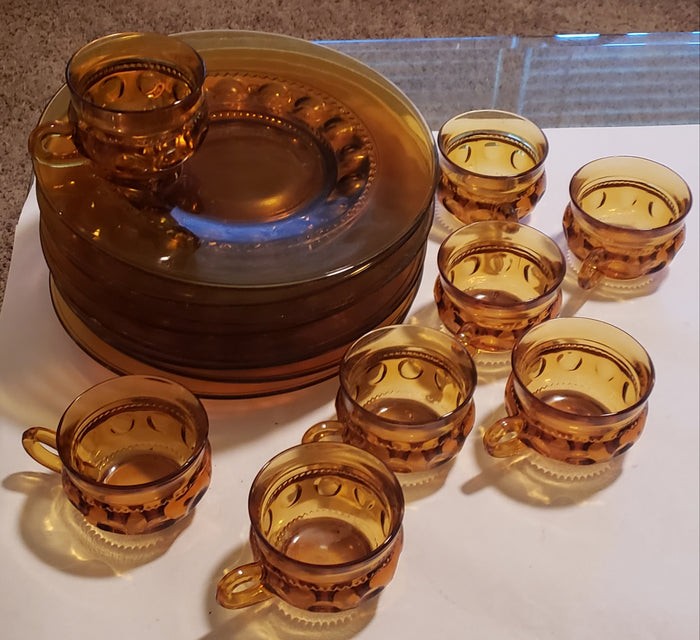 Amber Kings Crown Tea Set