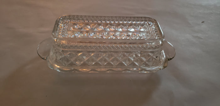 Wexford Glass butter dish