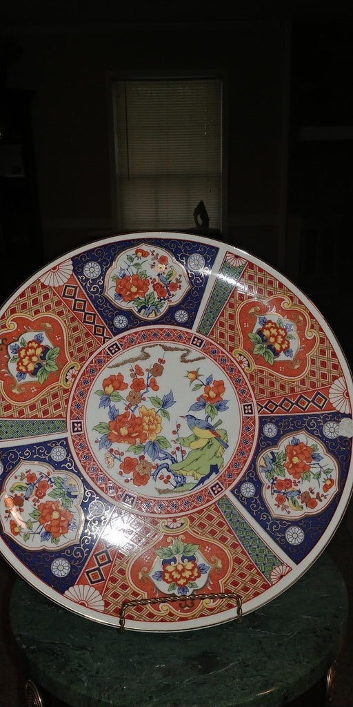 "VTG JAPANESE IMARI-WARE MULTI COLOR HAND PAINTEDPLATE - 12 1/4"" (2 available)"