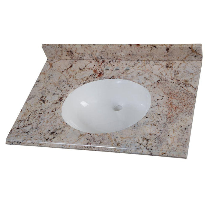 "Home Decorators Collection Stone Effects 31"" Rustic Gold Vanity Top"