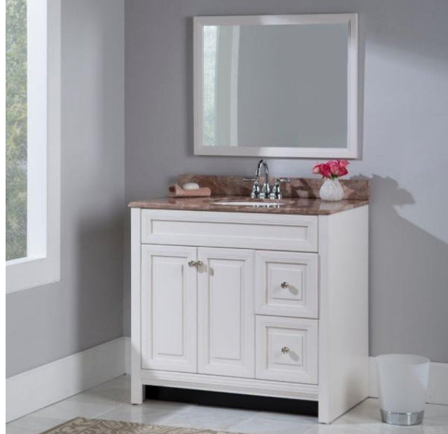 Home Decorators Collection Brinkhill 36 inch Vanity Cabinet in Cream