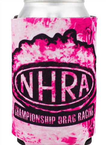 NHRA Pink Flames Sublimated Can Cooler