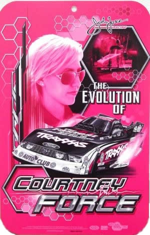 Courtney Force Pink Sign