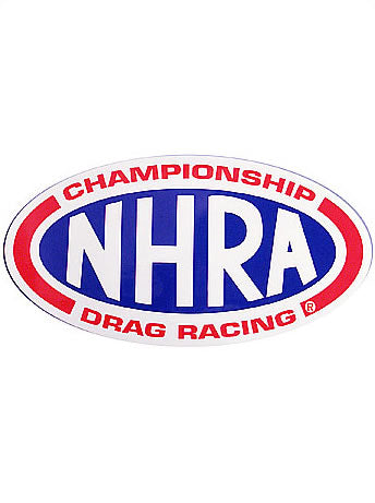 NHRA DECAL OVAL LOGO THREE SIZES