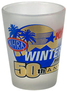 POMONA WINTERNATIONALS 50TH ANNIVERSARY SHOT GLASS