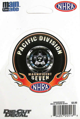 NHRA DIVISION SEVEN DECAL SMALL