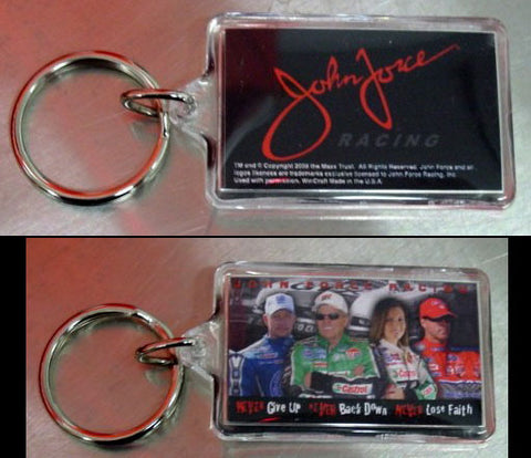 John Force Racing Team Drivers & Motto KEY CHAIN