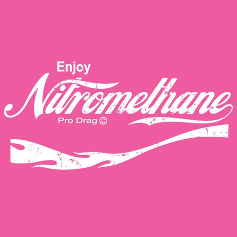 Pro Drag Vintage Enjoy Nitromethane Hot Pink Hoodie Sweatshirt