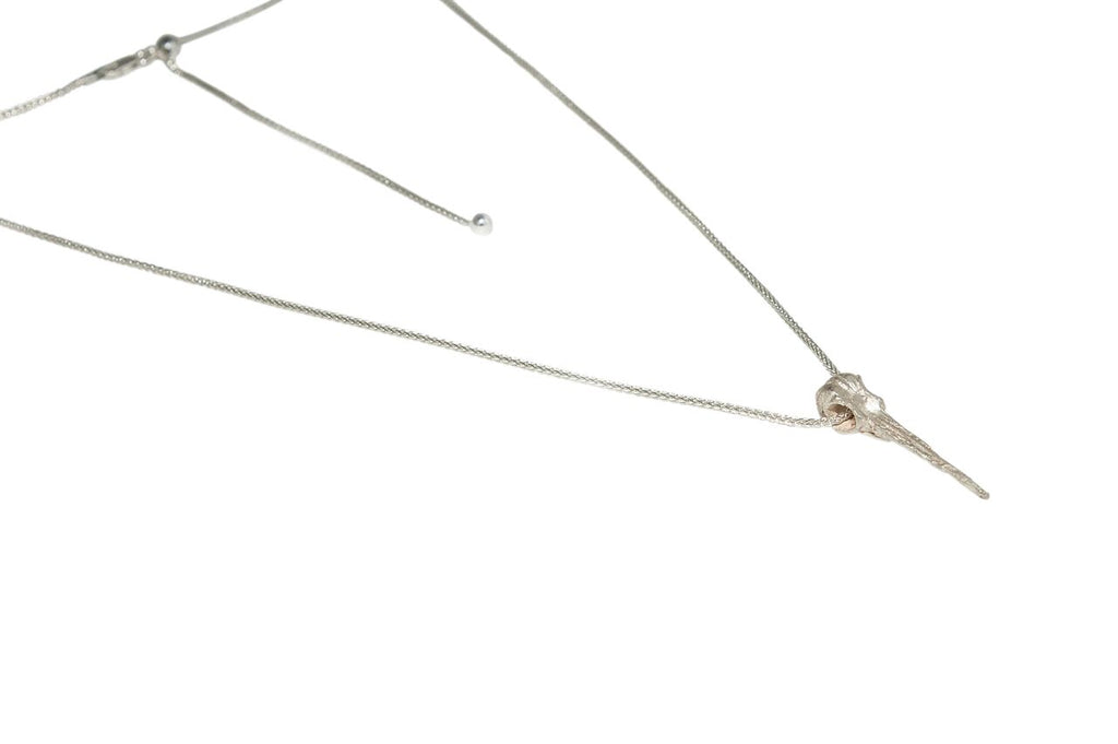 Hummingbird Pendant Necklace - Silver