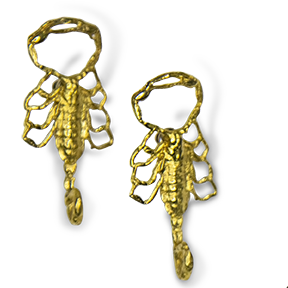 Scorpion Strike Earrings - Bronze