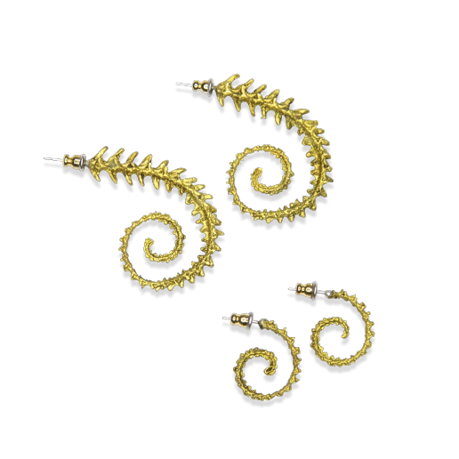 Chameleon Tail Earrings - Bronze