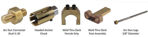Items Needed for Stud Gun Welding Thru Deck