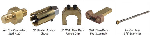 Items Needed to Weld Steel Dog Coil Studs