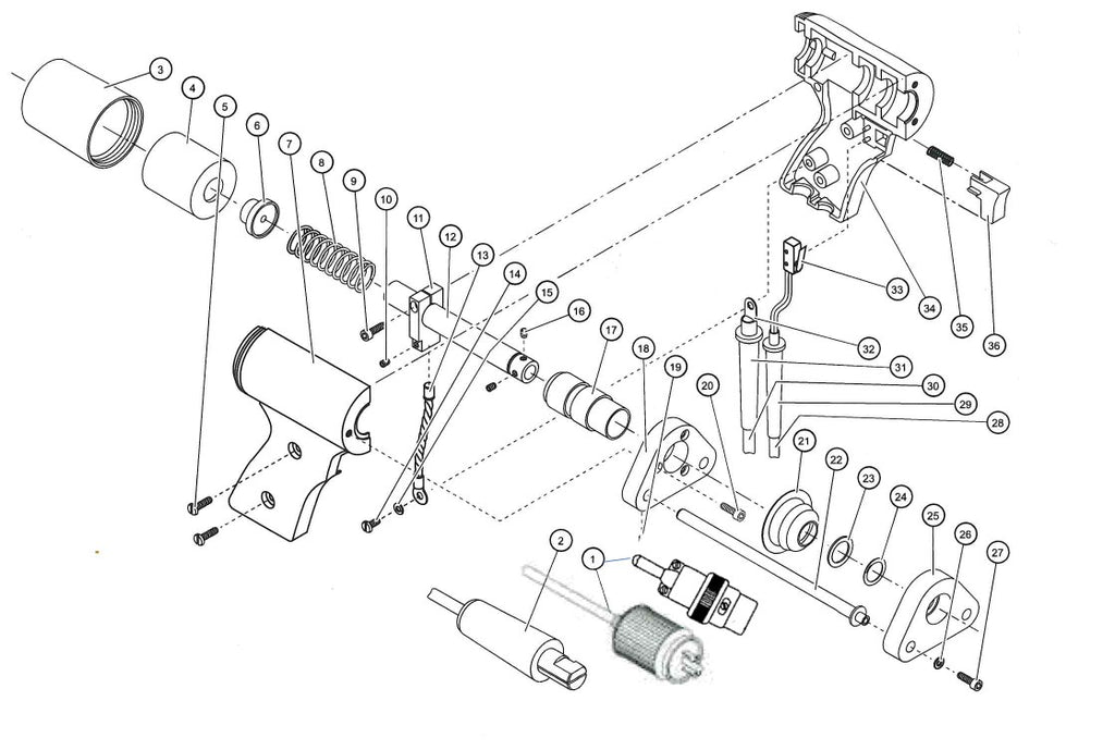 Midwest Fasteners Light Duty CD Gun Exploded View