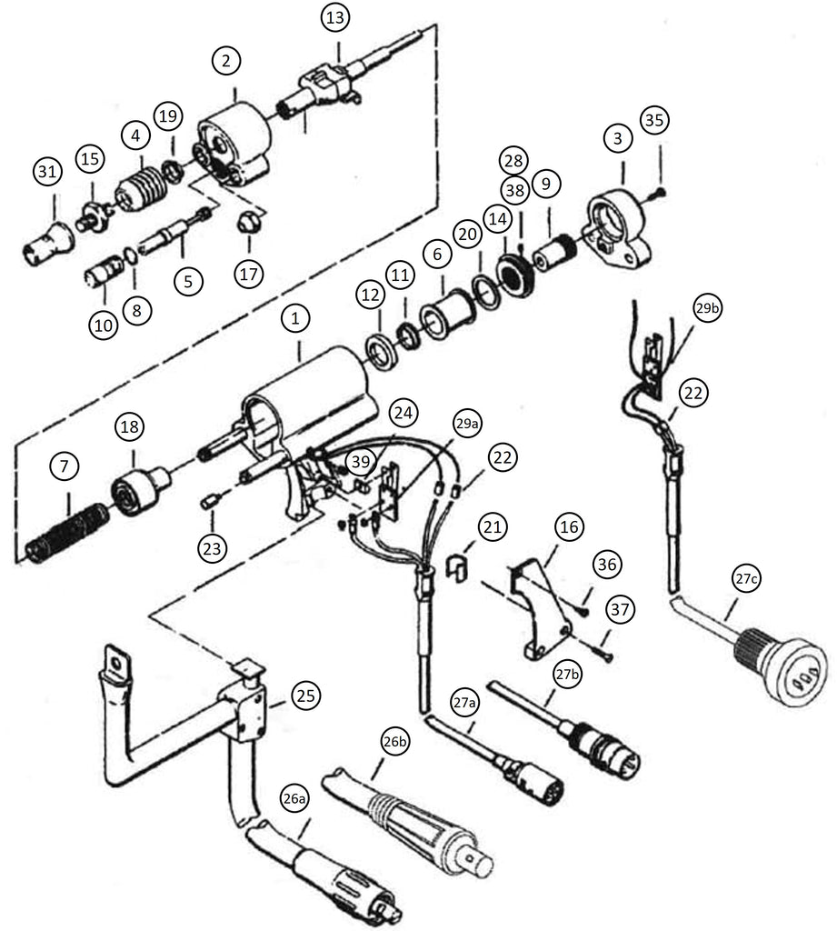 Nelson NS20 Stud Gun Exploded View Diagram