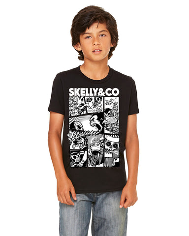 "Skelly & Co ""Comic"" Youth Short Sleeve T-Shirt"