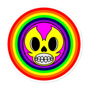 "Skelly & Co ""Rainbow Face"" Bubble-free stickers - Skelly & Co"