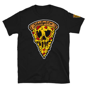 "Skelly & Co ""Pizza Skull"" Black T-Shirt"