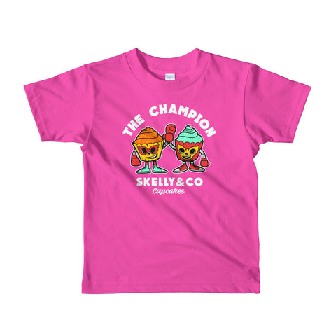 "Skelly & Co ""Cupcake Winners"" Short sleeve kids t-shirt"