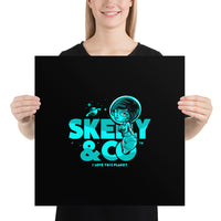 "Skelly & Co ""I Love This Planet"" Poster"