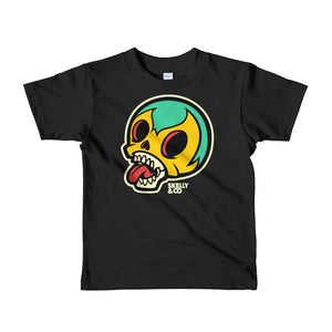 """Skelly Head"" Kids Short Sleeve T-shirt (More Options)"