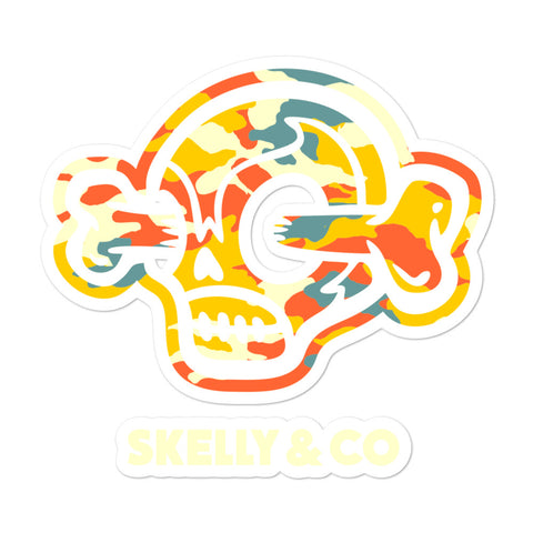 "Skelly & Co ""Logo Camo"" Bubble-free stickers - Skelly & Co"