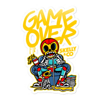 "Skelly & Co ""Game Over"" Bubble-free stickers - Skelly & Co"