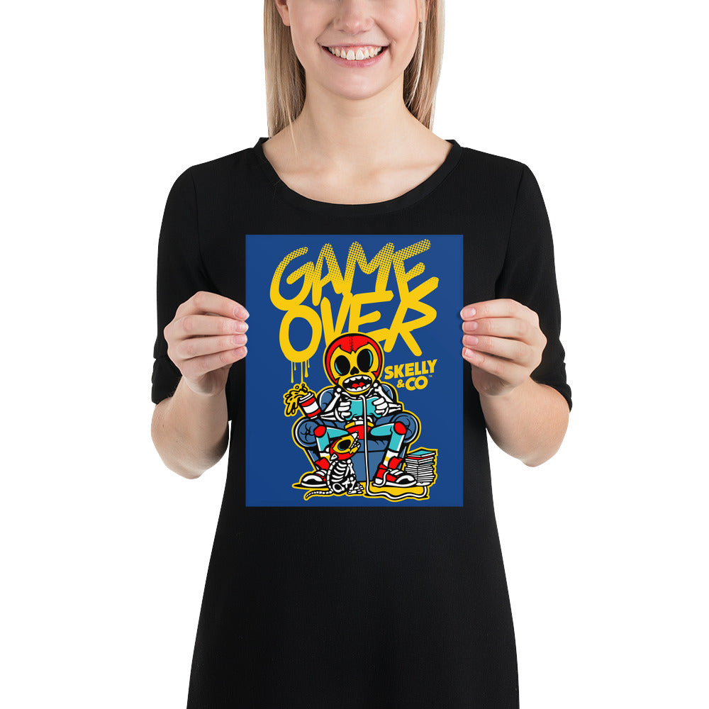 "Skelly & Co ""Game Over"" Poster"