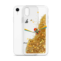 "Skelly & Co ""Rainbow Hang"" Liquid Glitter Phone Case"