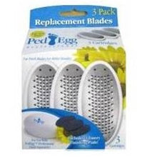 Ped Egg Replacement Blades with Emery Pads 3 ea