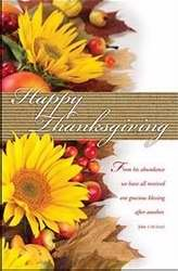Bulletin - Thanksgiving - Happy Thanksgiving (Pack of 100)