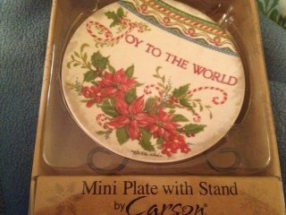 Joy to the World Ceramic Mini Plate with Stand