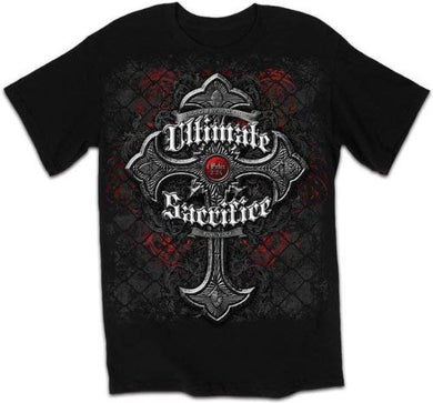 New Ultimate Sacrifice - Cross T-Shirt, Black, Small