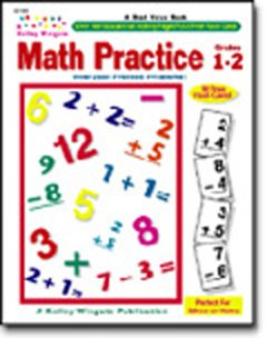 CARSON DELLOSA MATH PRACTICE GR. 1-2W/ 96 FLASH CARDS KELLY WINGATE