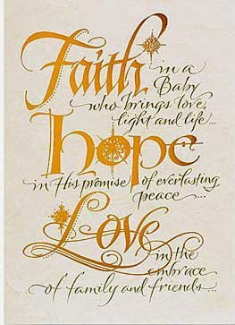 Faith Hope Love Christmas Cards