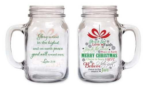 Old Fashioned Drinking Jar Christmas