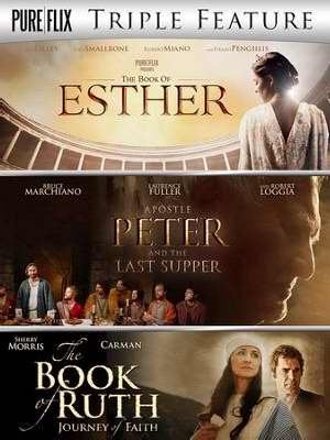 DVD-Biblical Trilogy: Esther/Apostle Peter & Last
