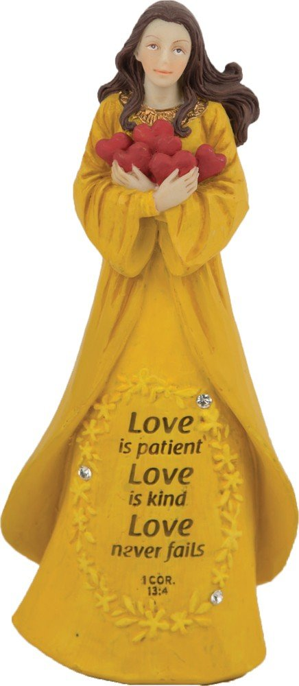 Christian Jewels of Faith Gem Series - Love is Patient Love is Kind Love Never Fails - Angel Figurine