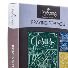DaySpring Praying for You Greeting Card with Embossed White Envelopes, 12 Count, Names of Jesus (37121)