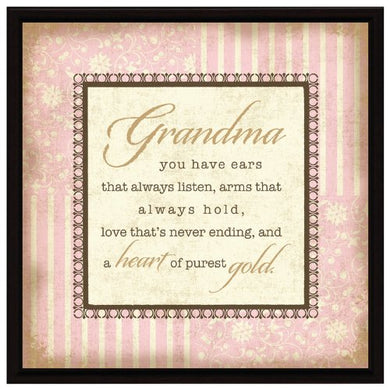 Grandma Wood Frame Plaque with Easel