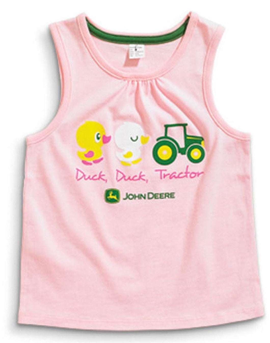 John Deere Girls Duck and Tractor Pink Infant Tank Top