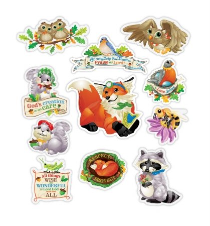 Wee Believers 130084 Magnets-Respect & Protect Woodland Animals, 11 Heavy Duty Pieces