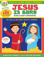 Play and Learn Bible Stories: Jesus Is Born: Wipe-Clean Storybook (I'm Learning the Bible Activity Book)